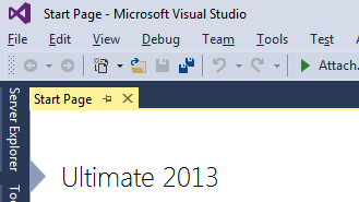 Visual Studio 2013 Normal Small Menu