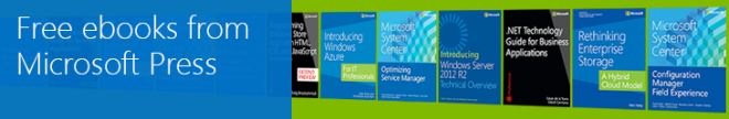 Free ebooks from Microsoft Press